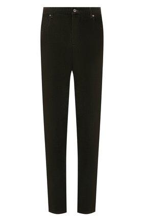 Мужские хлопковые брюки HILTL темно-зеленого цвета, арт. PARKER/74818/60-70 | Фото 1 (Материал внешний: Хлопок; Длина (брюки, джинсы): Стандартные; Случай: Повседневный; Стили: Кэжуэл; Силуэт М (брюки): Чиносы; Big sizes: Big Sizes)