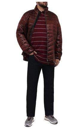 Мужское хлопковое поло PAUL&SHARK бордового цвета, арт. 11311702/C00/3XL-6XL   Фото 2 (Материал внешний: Хлопок; Рукава: Длинные; Длина (для топов): Удлиненные; Застежка: Пуговицы; Стили: Кэжуэл)