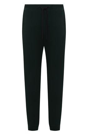 Мужские хлопковые джоггеры PAUL&SHARK темно-зеленого цвета, арт. C0P1024/C00/3XL-6XL | Фото 1 (Материал внешний: Хлопок; Мужское Кросс-КТ: Брюки-трикотаж; Силуэт М (брюки): Джоггеры; Стили: Спорт-шик; Длина (брюки, джинсы): Стандартные)