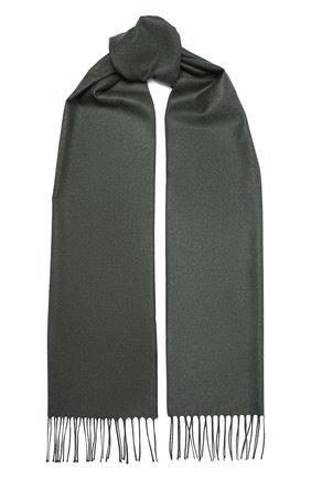 Мужской шелковый шарф  PIACENZA CASHMERE 1733 зеленого цвета, арт. 83681/12 | Фото 1 (Материал: Текстиль, Шелк; Кросс-КТ: шелк)