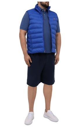 Мужской утепленный жилет  POLO RALPH LAUREN синего цвета, арт. 711810898/PRL BS   Фото 2 (Материал внешний: Синтетический материал; Материал подклада: Синтетический материал; Кросс-КТ: Куртка; Стили: Спорт-шик; Big sizes: Big Sizes; Длина (верхняя одежда): Короткие)
