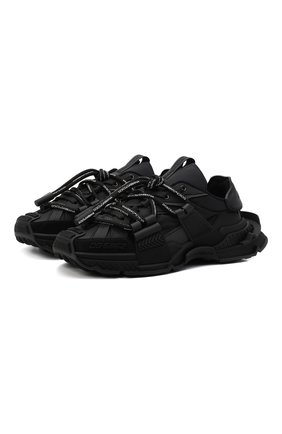 Мужские текстильные кроссовки space DOLCE & GABBANA черного цвета, арт. CS1963/AQ407 | Фото 1 (Материал внутренний: Текстиль, Натуральная кожа; Материал внешний: Текстиль; Подошва: Массивная; Стили: Гранж)