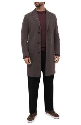 Мужские замшевые кеды newport  LORO PIANA коричневого цвета, арт. FAL4249 | Фото 2 (Материал утеплителя: Натуральный мех; Материал внешний: Замша; Подошва: Массивная)