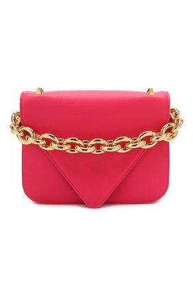 Женская сумка mount small BOTTEGA VENETA розового цвета, арт. 667399/V12M0   Фото 1 (Материал: Натуральная кожа; Сумки-технические: Сумки через плечо; Ремень/цепочка: На ремешке; Размер: small)