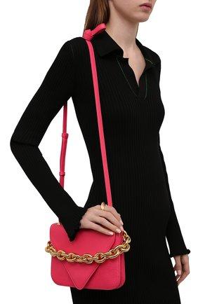 Женская сумка mount small BOTTEGA VENETA розового цвета, арт. 667399/V12M0   Фото 2 (Материал: Натуральная кожа; Сумки-технические: Сумки через плечо; Ремень/цепочка: На ремешке; Размер: small)