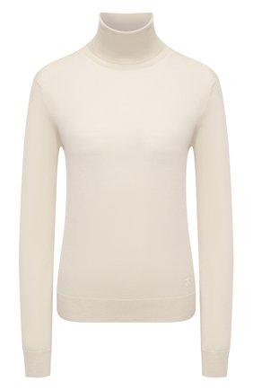 Женская шерстяная водолазка JIL SANDER белого цвета, арт. JSWT753301-WTY20158 | Фото 1 (Материал внешний: Шерсть; Женское Кросс-КТ: Водолазка-одежда; Рукава: Длинные; Длина (для топов): Стандартные; Стили: Кэжуэл)