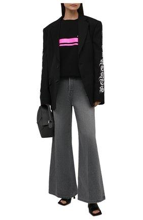 Женский хлопковый свитшот balmain x rossignol BALMAIN черного цвета, арт. WF2JQ000/B099   Фото 2 (Материал внешний: Хлопок; Рукава: Длинные; Длина (для топов): Стандартные; Женское Кросс-КТ: Свитшот-одежда; Стили: Спорт-шик)