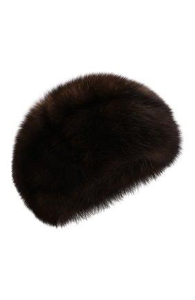 Женская шапка из меха соболя KUSSENKOVV коричневого цвета, арт. 013500003008 | Фото 1 (Материал: Натуральный мех)