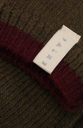 Женские носки FALKE темно-зеленого цвета, арт. 46380 | Фото 2 (Материал внешний: Синтетический материал, Шерсть)