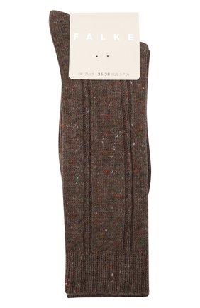 Женские носки FALKE коричневого цвета, арт. 46449 | Фото 1 (Материал внешний: Синтетический материал, Шерсть)