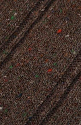 Женские носки FALKE коричневого цвета, арт. 46449 | Фото 2 (Материал внешний: Синтетический материал, Шерсть)