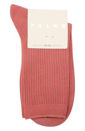 Женские носки FALKE розового цвета, арт. 46333 | Фото 1 (Материал внешний: Хлопок, Синтетический материал)