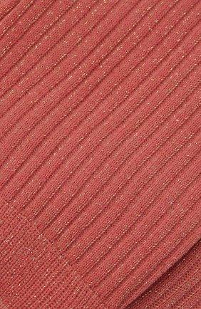 Женские носки FALKE розового цвета, арт. 46333 | Фото 2 (Материал внешний: Хлопок, Синтетический материал)