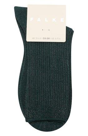 Женские носки FALKE зеленого цвета, арт. 46333 | Фото 1 (Материал внешний: Синтетический материал, Хлопок)