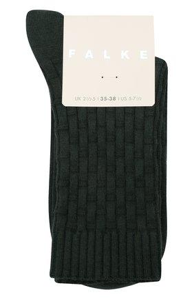 Женские носки из хлопка и шерсти FALKE зеленого цвета, арт. 46494 | Фото 1 (Материал внешний: Хлопок)