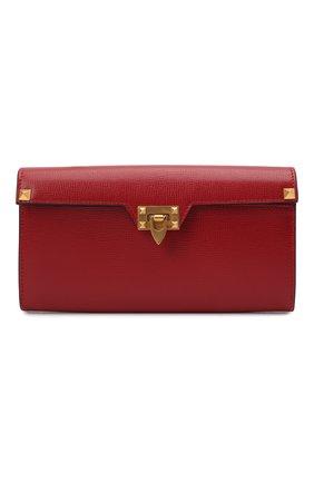 Женские кожаный кошелек VALENTINO красного цвета, арт. WW0P0W68/XVD   Фото 1