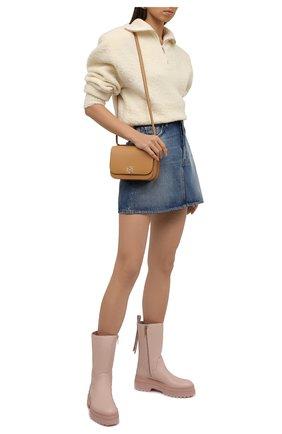 Женские кожаные сапоги REDVALENTINO розового цвета, арт. WQ0S0G11/DMH   Фото 2 (Подошва: Платформа; Материал внутренний: Натуральная кожа; Каблук высота: Средний; Каблук тип: Устойчивый)