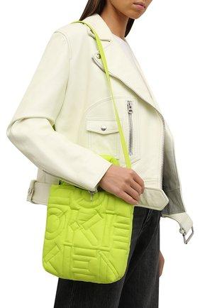 Женский сумка-шопер small KENZO желтого цвета, арт. FB62SA002F08 | Фото 2 (Размер: small; Ремень/цепочка: На ремешке; Материал: Текстиль; Ошибки технического описания: Нет глубины; Сумки-технические: Сумки-шопперы)