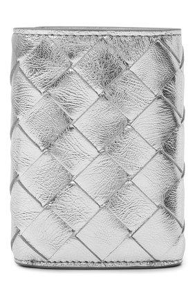 Женские кожаное портмоне BOTTEGA VENETA серебряного цвета, арт. 666944/V1GF1   Фото 1