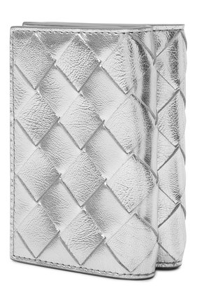 Женские кожаное портмоне BOTTEGA VENETA серебряного цвета, арт. 666944/V1GF1   Фото 2