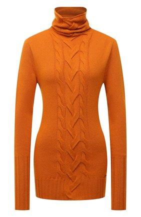 Женская кашемировая водолазка KITON оранжевого цвета, арт. D52723549 | Фото 1 (Длина (для топов): Стандартные; Рукава: Длинные; Материал внешний: Кашемир, Шерсть; Стили: Кэжуэл; Женское Кросс-КТ: Водолазка-одежда)