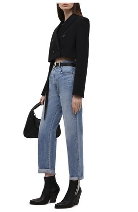 Женские кожаные ботильоны MAGDA BUTRYM черного цвета, арт. 5407210000 | Фото 2 (Материал внутренний: Натуральная кожа; Подошва: Плоская; Каблук высота: Высокий; Каблук тип: Устойчивый)