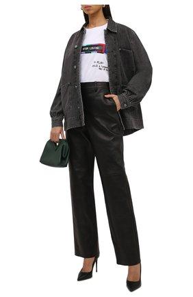Женская хлопковая футболка DOLCE & GABBANA белого цвета, арт. F8P13T/HU7H8 | Фото 2 (Длина (для топов): Стандартные; Рукава: 3/4; Материал внешний: Хлопок; Стили: Спорт-шик; Принт: С принтом; Женское Кросс-КТ: Футболка-одежда)
