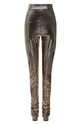 Женские леггинсы DOLCE & GABBANA бронзового цвета, арт. FTCADT/FUGMB | Фото 1 (Материал внешний: Синтетический материал; Длина (брюки, джинсы): Удлиненные; Стили: Спорт-шик; Женское Кросс-КТ: Леггинсы-одежда)