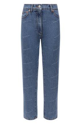 Женские джинсы MAGDA BUTRYM голубого цвета, арт. 1039210001   Фото 1 (Материал внешний: Хлопок; Длина (брюки, джинсы): Укороченные; Стили: Кэжуэл; Кросс-КТ: Деним; Силуэт Ж (брюки и джинсы): Узкие)