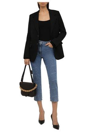 Женские джинсы MAGDA BUTRYM голубого цвета, арт. 1039210001   Фото 2 (Материал внешний: Хлопок; Длина (брюки, джинсы): Укороченные; Стили: Кэжуэл; Кросс-КТ: Деним; Силуэт Ж (брюки и джинсы): Узкие)
