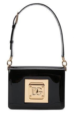 Женская сумка bella medium DOLCE & GABBANA черного цвета, арт. BB7072/AQ618 | Фото 1 (Ремень/цепочка: На ремешке; Размер: medium; Материал: Натуральная кожа; Сумки-технические: Сумки top-handle)