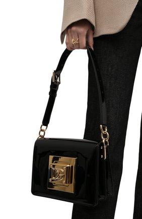 Женская сумка bella medium DOLCE & GABBANA черного цвета, арт. BB7072/AQ618 | Фото 2 (Ремень/цепочка: На ремешке; Размер: medium; Материал: Натуральная кожа; Сумки-технические: Сумки top-handle)
