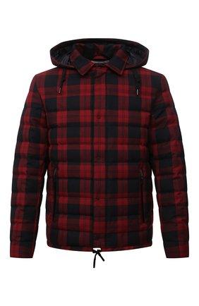 Мужская пуховая куртка HERNO красного цвета, арт. PI205UL/12594   Фото 1 (Материал внешний: Вискоза, Синтетический материал; Рукава: Длинные; Материал утеплителя: Пух и перо; Материал подклада: Синтетический материал; Длина (верхняя одежда): Короткие; Кросс-КТ: Куртка; Мужское Кросс-КТ: пуховик-короткий; Стили: Гранж)