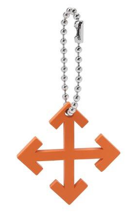 Мужской брелок OFF-WHITE оранжевого цвета, арт. 0M0E004F21MET0012200 | Фото 1