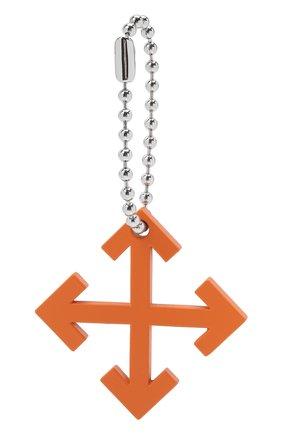 Мужской брелок OFF-WHITE оранжевого цвета, арт. 0M0E004F21MET0012200 | Фото 2