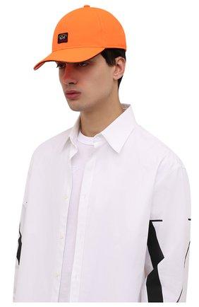 Мужской бейсболка PAUL&SHARK оранжевого цвета, арт. 11317104/DF | Фото 2 (Материал: Текстиль, Синтетический материал)