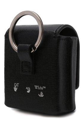 Кожаный чехол для airpods OFF-WHITE черного цвета, арт. 0MNJ014F21LEA001   Фото 2