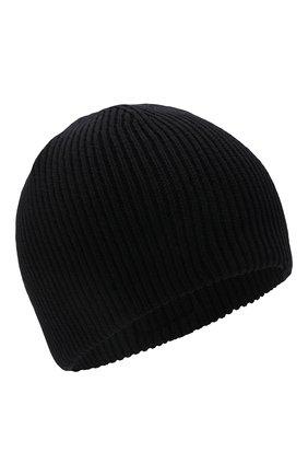Детского хлопковая шапка KARL LAGERFELD KIDS черного цвета, арт. Z21022 | Фото 1 (Материал: Текстиль, Хлопок)