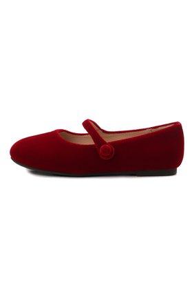 Детские балетки AGE OF INNOCENCE красного цвета, арт. 000153/ELIN VELVET/32-35 | Фото 2 (Материал внешний: Текстиль; Материал внутренний: Натуральная кожа)