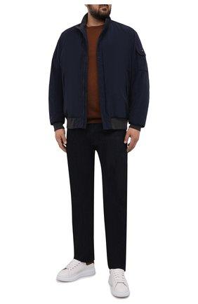 Мужской утепленный бомбер PAUL&SHARK темно-синего цвета, арт. 11312240/F6U/3XL-6XL   Фото 2 (Материал внешний: Синтетический материал; Длина (верхняя одежда): Короткие; Материал подклада: Синтетический материал; Рукава: Длинные; Кросс-КТ: Куртка; Принт: Без принта; Стили: Кэжуэл; Мужское Кросс-КТ: утепленные куртки)
