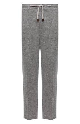 Мужские кашемировые брюки MARCO PESCAROLO серого цвета, арт. BAIA/ZIP/4460   Фото 1 (Материал внешний: Кашемир, Шерсть; Случай: Повседневный; Мужское Кросс-КТ: Брюки-трикотаж; Стили: Кэжуэл; Big sizes: Big Sizes; Длина (брюки, джинсы): Стандартные)