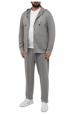 Мужские кашемировые брюки MARCO PESCAROLO серого цвета, арт. BAIA/ZIP/4460   Фото 2 (Материал внешний: Кашемир, Шерсть; Случай: Повседневный; Мужское Кросс-КТ: Брюки-трикотаж; Стили: Кэжуэл; Big sizes: Big Sizes; Длина (брюки, джинсы): Стандартные)