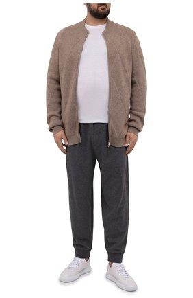 Мужской кашемировый кардиган SVEVO бежевого цвета, арт. 01054XSA21/MP01/2   Фото 2 (Материал внешний: Кашемир, Шерсть; Длина (для топов): Удлиненные; Рукава: Длинные; Мужское Кросс-КТ: Кардиган-одежда; Стили: Кэжуэл; Big sizes: Big Sizes)