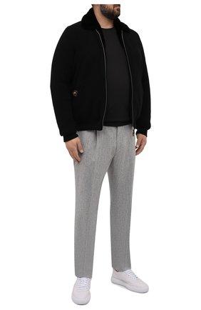 Мужской кашемировый бомбер с меховой подкладкой SVEVO черного цвета, арт. 0142XSA21/MP01/2   Фото 2 (Материал внешний: Шерсть, Кашемир; Рукава: Длинные; Длина (верхняя одежда): Короткие; Кросс-КТ: Куртка; Принт: Без принта; Мужское Кросс-КТ: утепленные куртки, шерсть и кашемир; Стили: Классический; Big sizes: Big Sizes)