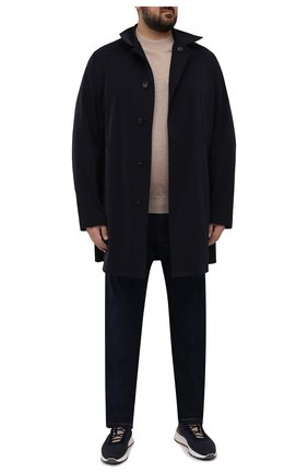 Мужские джинсы CORTIGIANI темно-синего цвета, арт. 213525/S500/0000/6090/60-70   Фото 2 (Материал внешний: Хлопок; Кросс-КТ: Деним; Силуэт М (брюки): Прямые; Стили: Классический; Big sizes: Big Sizes; Длина (брюки, джинсы): Стандартные)