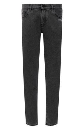 Мужские джинсы OFF-WHITE серого цвета, арт. 0MYA074F21DEN007   Фото 1 (Длина (брюки, джинсы): Стандартные; Материал внешний: Хлопок; Кросс-КТ: Деним; Силуэт М (брюки): Прямые; Стили: Гранж)