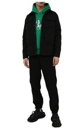 Мужской худи POLO RALPH LAUREN зеленого цвета, арт. 710839053 | Фото 2 (Материал внешний: Хлопок, Синтетический материал; Рукава: Длинные; Длина (для топов): Стандартные; Мужское Кросс-КТ: Худи-одежда; Стили: Спорт-шик; Принт: С принтом)