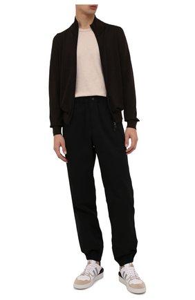 Мужской шерстяной кардиган BRIONI темно-коричневого цвета, арт. UMT20L/01K19   Фото 2 (Рукава: Длинные; Длина (для топов): Стандартные; Материал внешний: Шерсть; Мужское Кросс-КТ: Кардиган-одежда; Стили: Кэжуэл)