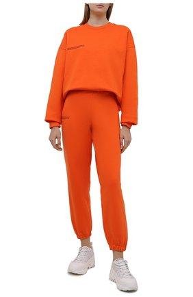 Мужские хлопковый свитшот PANGAIA оранжевого цвета, арт. 20FCU01-013-FE0R02 | Фото 2 (Стили: Спорт-шик)