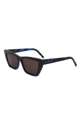 Женские солнцезащитные очки SAINT LAURENT темно-синего цвета, арт. SL 276 MICA | Фото 1 (Тип очков: С/з; Оптика Гендер: оптика-женское; Очки форма: D-форма)